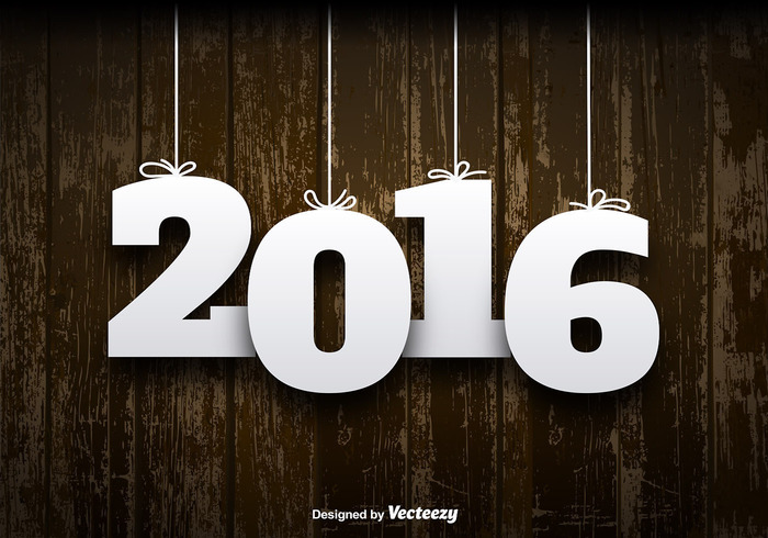 2016-wooden-background-vector
